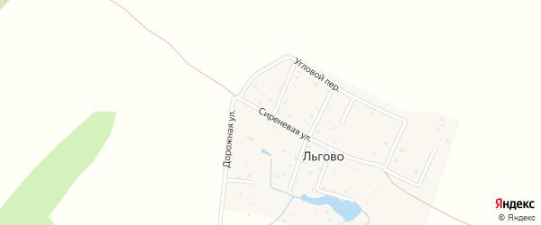 Солнечный переулок на карте деревни Льгово Калужской области с номерами домов