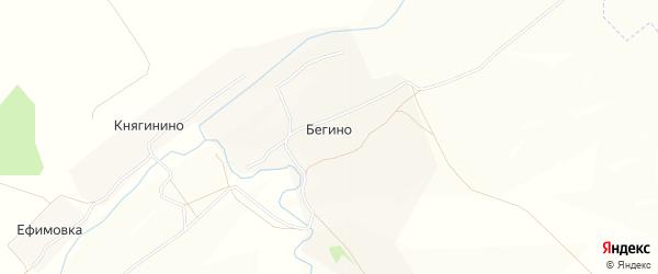 Карта деревни Бегино в Тульской области с улицами и номерами домов