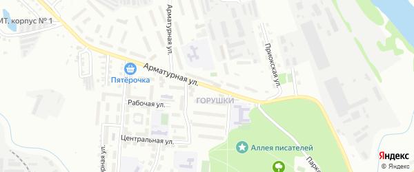 Арматурная улица на карте Алексина с номерами домов