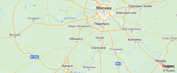 Карта Роговского поселения города Москвы с городами и населенными пунктами