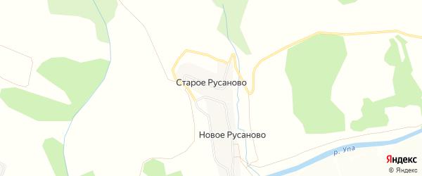 Карта деревни Старое Русаново в Тульской области с улицами и номерами домов