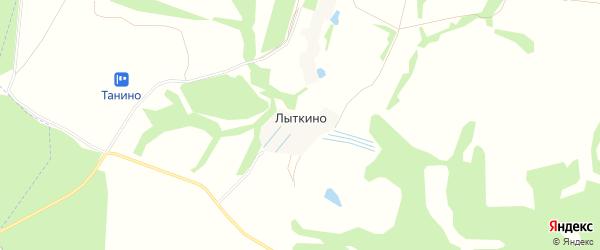 Карта деревни Лыткино в Калужской области с улицами и номерами домов