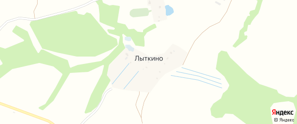 Воскресенская улица на карте деревни Лыткино Калужской области с номерами домов