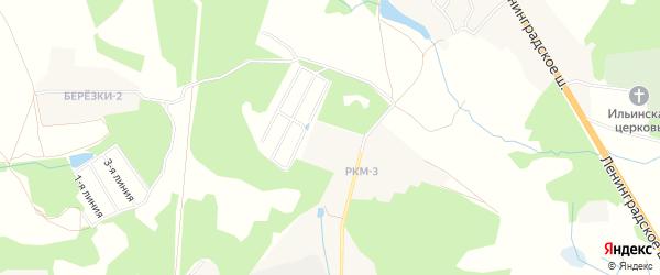 Квартал Дачной застройки Винтаж на карте Солнечногорского района Московской области с номерами домов