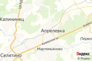 Карта г. Апрелевка Московская область