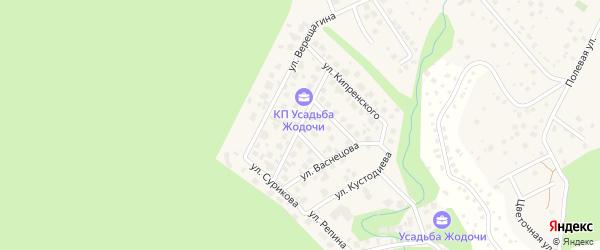 Улица Левитана на карте деревни Жедочи Московской области с номерами домов