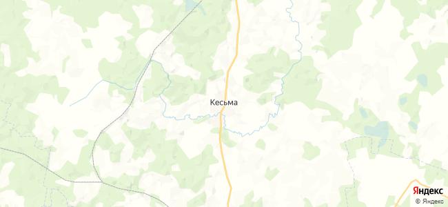 Кесьма на карте