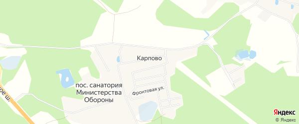 СНТ Зеленая роща на карте деревни Карпово с номерами домов