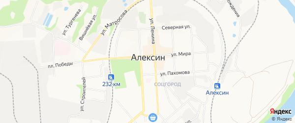 ГСК Союз Чернобыль на карте Алексина с номерами домов