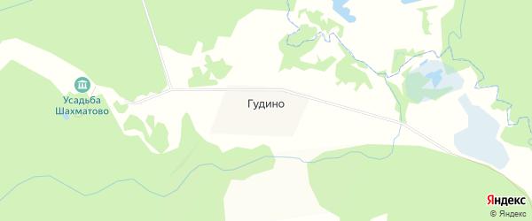 Карта деревни Гудино в Московской области с улицами и номерами домов