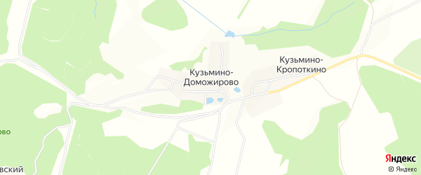 Карта деревни Кузьмино-Доможирово в Тульской области с улицами и номерами домов