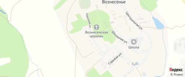 Парковая улица на карте села Вознесения Калужской области с номерами домов