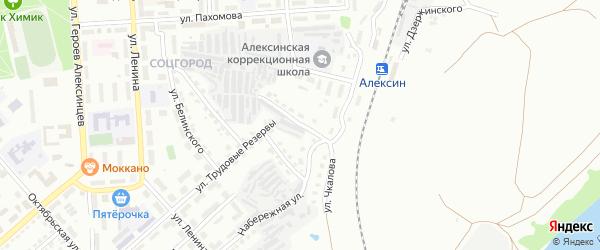 Улица Чкалова на карте Алексина с номерами домов