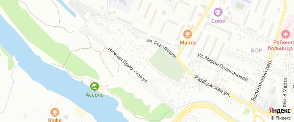 Приокская Средняя улица на карте Алексина с номерами домов