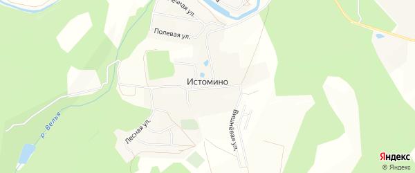 Карта села Истомино в Калужской области с улицами и номерами домов