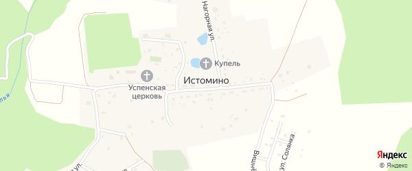 Луговая улица на карте села Истомино Калужской области с номерами домов