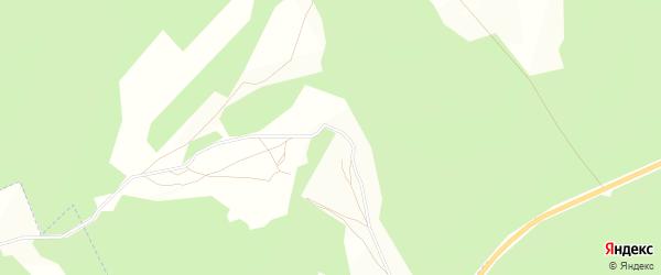 Карта деревни Ложкино в Калужской области с улицами и номерами домов