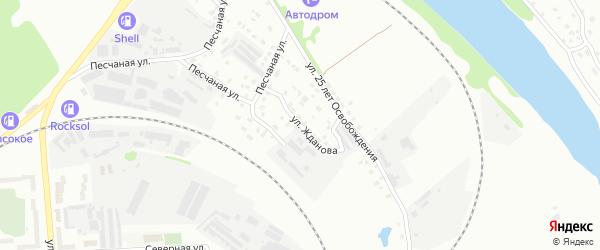 Улица Жданова на карте Алексина с номерами домов