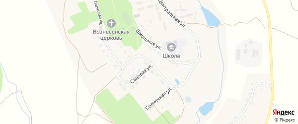 Садовая улица на карте села Вознесения Калужской области с номерами домов