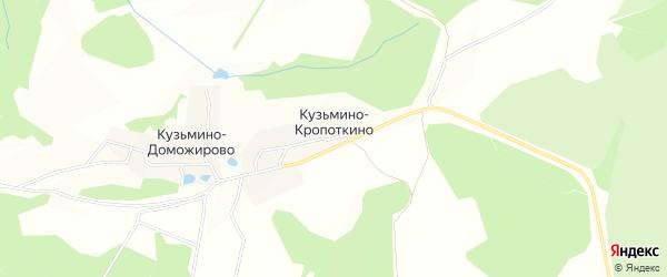Карта деревни Кузьмино-Кропоткино в Тульской области с улицами и номерами домов