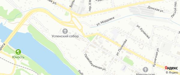 Площадь Свободы на карте Алексина с номерами домов