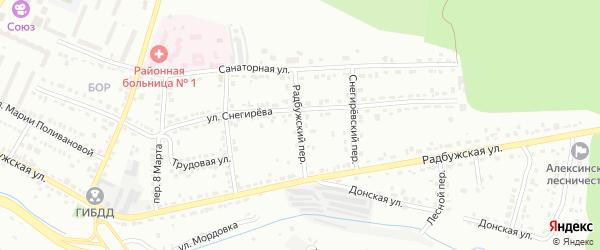 Радбужский переулок на карте Алексина с номерами домов