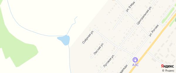Озерная улица на карте Воскресенского села Тульской области с номерами домов