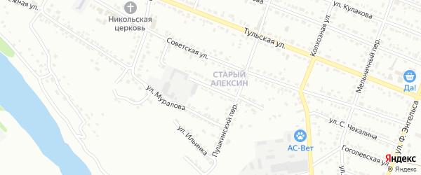 Техническая улица на карте Алексина с номерами домов