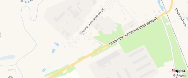 Новопромышленный переулок на карте Красного Холма с номерами домов