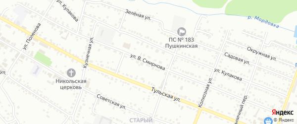 Улица В.Смирнова на карте Алексина с номерами домов