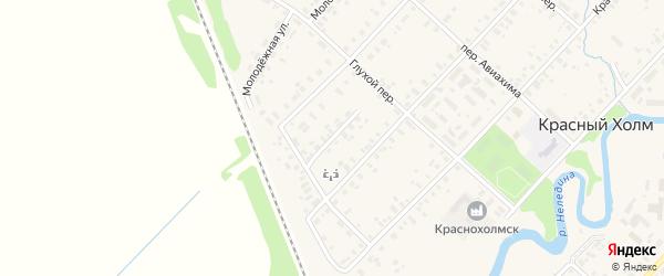 Зеленый переулок на карте Красного Холма с номерами домов