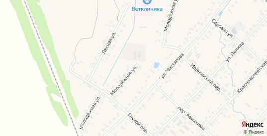 Молодежная улица в Красном Холме с номерами домов на карте. Спутник и схема онлайн