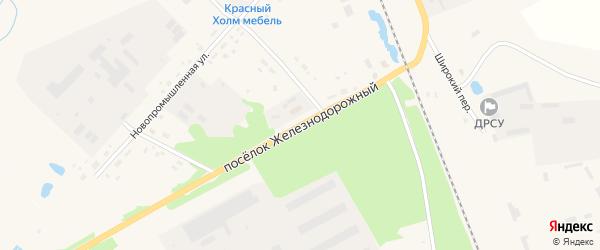 Железнодорожный поселок на карте Красного Холма с номерами домов