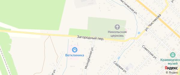 Загородный переулок на карте Красного Холма с номерами домов