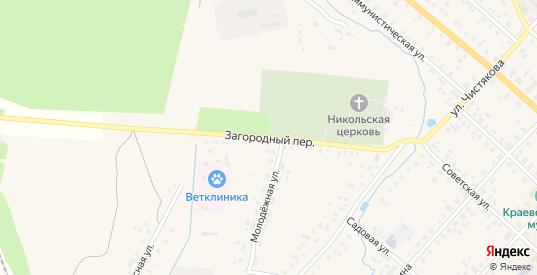 Загородный переулок в Красном Холме с номерами домов на карте. Спутник и схема онлайн