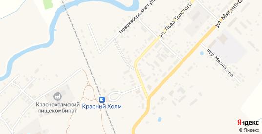 Льва Толстого 3-й переулок в Красном Холме с номерами домов на карте. Спутник и схема онлайн
