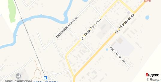 Льва Толстого 2-й переулок в Красном Холме с номерами домов на карте. Спутник и схема онлайн