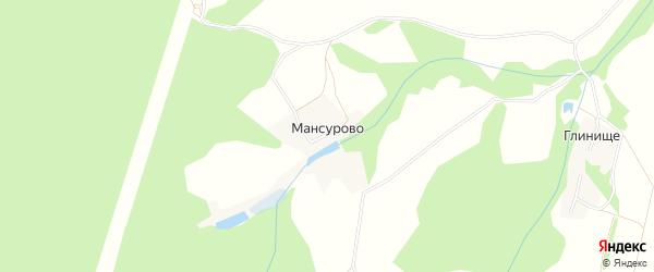 Карта деревни Мансурово в Калужской области с улицами и номерами домов