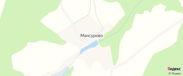 Луговая улица на карте деревни Мансурово Калужской области с номерами домов