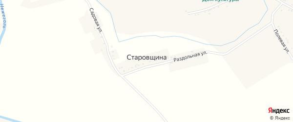 Раздольная улица на карте села Старовщины с номерами домов