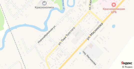 Улица Льва Толстого в Красном Холме с номерами домов на карте. Спутник и схема онлайн