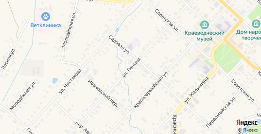 Улица Ленина в Красном Холме с номерами домов на карте. Спутник и схема онлайн