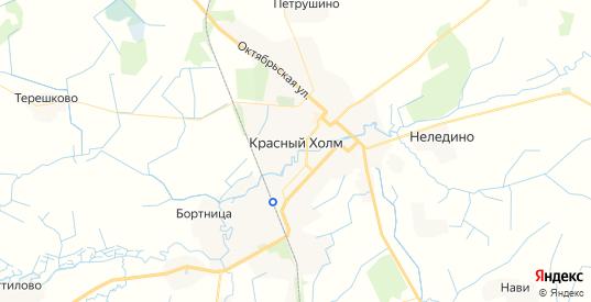 Карта Красного Холма с улицами и домами подробная. Показать со спутника номера домов онлайн