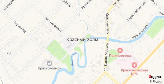Семейная улица в Красном Холме с номерами домов на карте. Спутник и схема онлайн