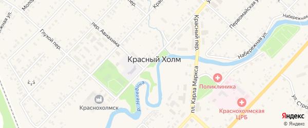 Семейная улица на карте Красного Холма с номерами домов
