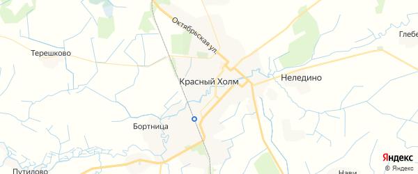 Карта Красного Холма с районами, улицами и номерами домов: Красный Холм на карте России