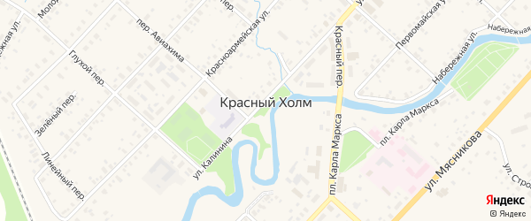 Привокзальный переулок на карте Красного Холма с номерами домов