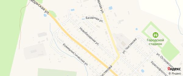 Новобазарная улица на карте Красного Холма с номерами домов