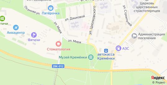 Улица Мира в Кременки с номерами домов на карте. Спутник и схема онлайн