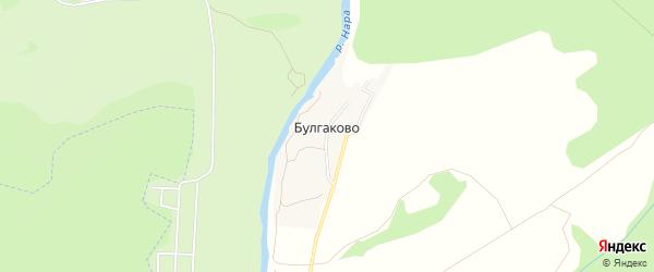 Карта деревни Булгаково города Чехов в Московской области с улицами и номерами домов